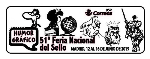 Madrid. 2019-06-12 al 16. 51 Feria Nacional del Sello. Matasellos. General.jpg