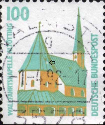 Bundes 1406 D Stain on central dome.jpg