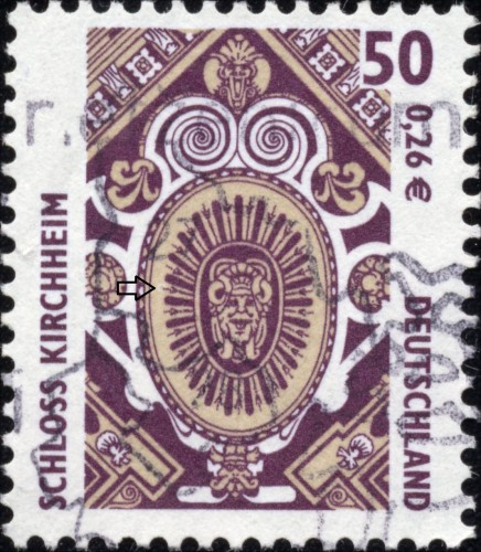 Bundes 2210 White aureole on the left side of the oval.jpg