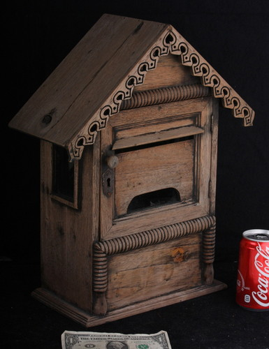 Mail Box old vintage used Thai private home chic antique shabby box letter case 1.jpg