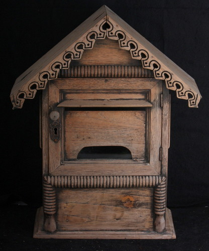 Mail Box old vintage used Thai private home chic antique shabby box letter case 2.jpg